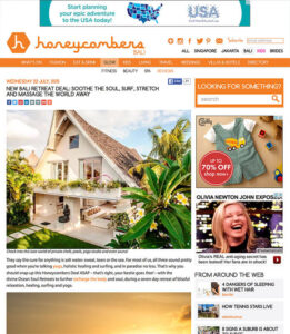 Honeycombers, Women's Surf Pilates Yoga wellness retreat, for Women only, Bali