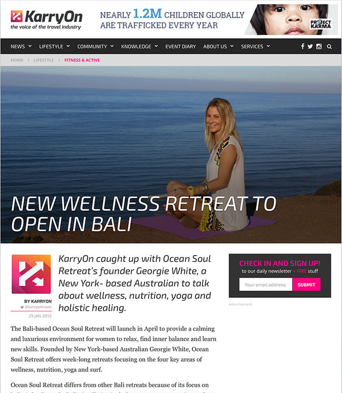 media karryon, ocean soul retreat for women, bali, surf, pilates, wellness, resort for women, relaxation, yoga